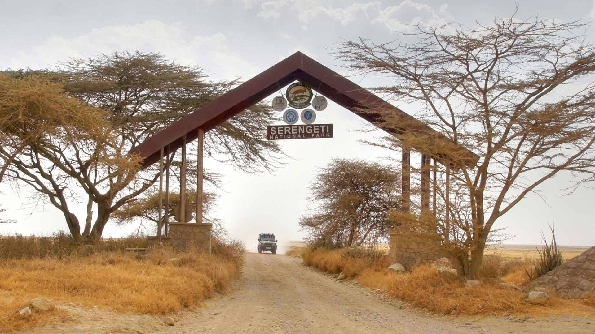 Enntrance to Serengeti National Park on Serengeti Safari
